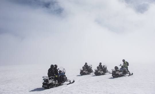 Meet Us At Gullfoss For A Snowmobile Tour